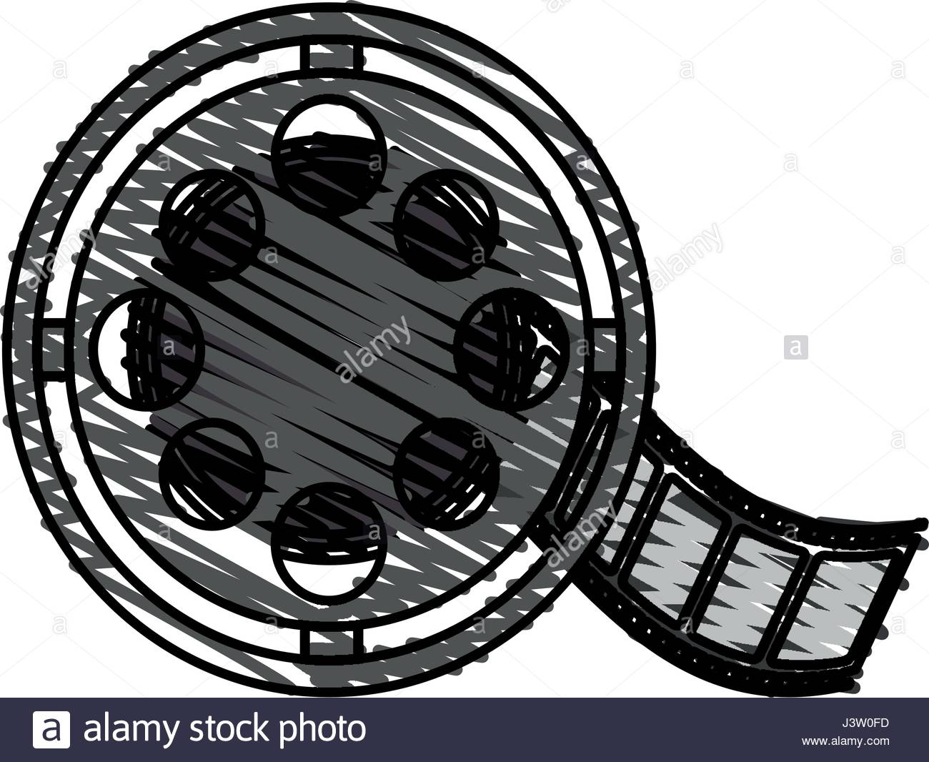 1300x1066 Color Crayon Stripe Image Cartoon Film Roll Reel Stock Vector Art