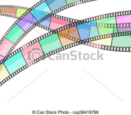 450x395 Cinema Background With Film Strip. Vector Vector