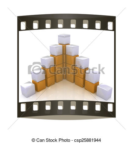 436x470 Cubic Diagram Structure. The Film Strip Drawing