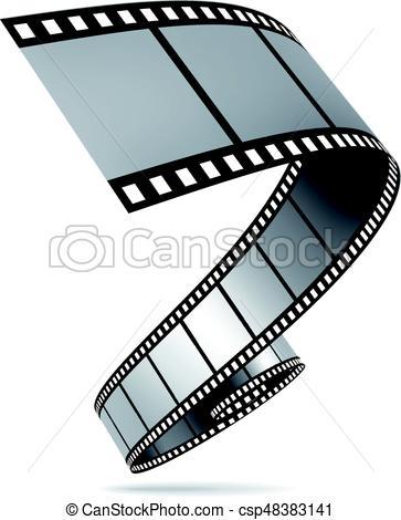 363x470 Film Strip Vector Illustration On White Background Eps Vector