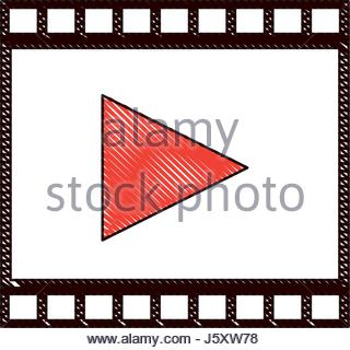 320x320 Drawing Cinema Film Strip Tape Vector Illustration Eps 10 Stock
