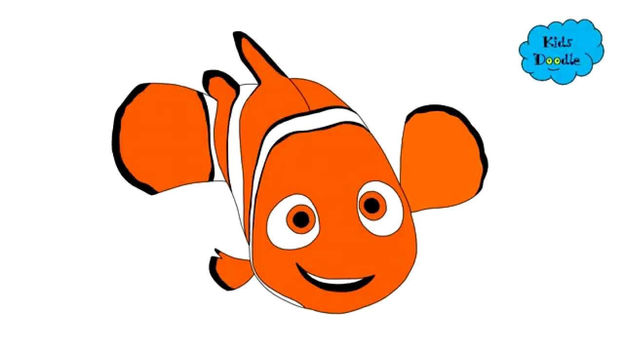 1280x720 How To Draw Nemo From Finding Nemo Movie Full Step By Step Guide
