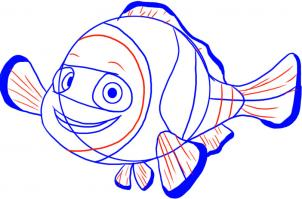 302x199 How To Draw How To Draw Nemo From Finding Nemo