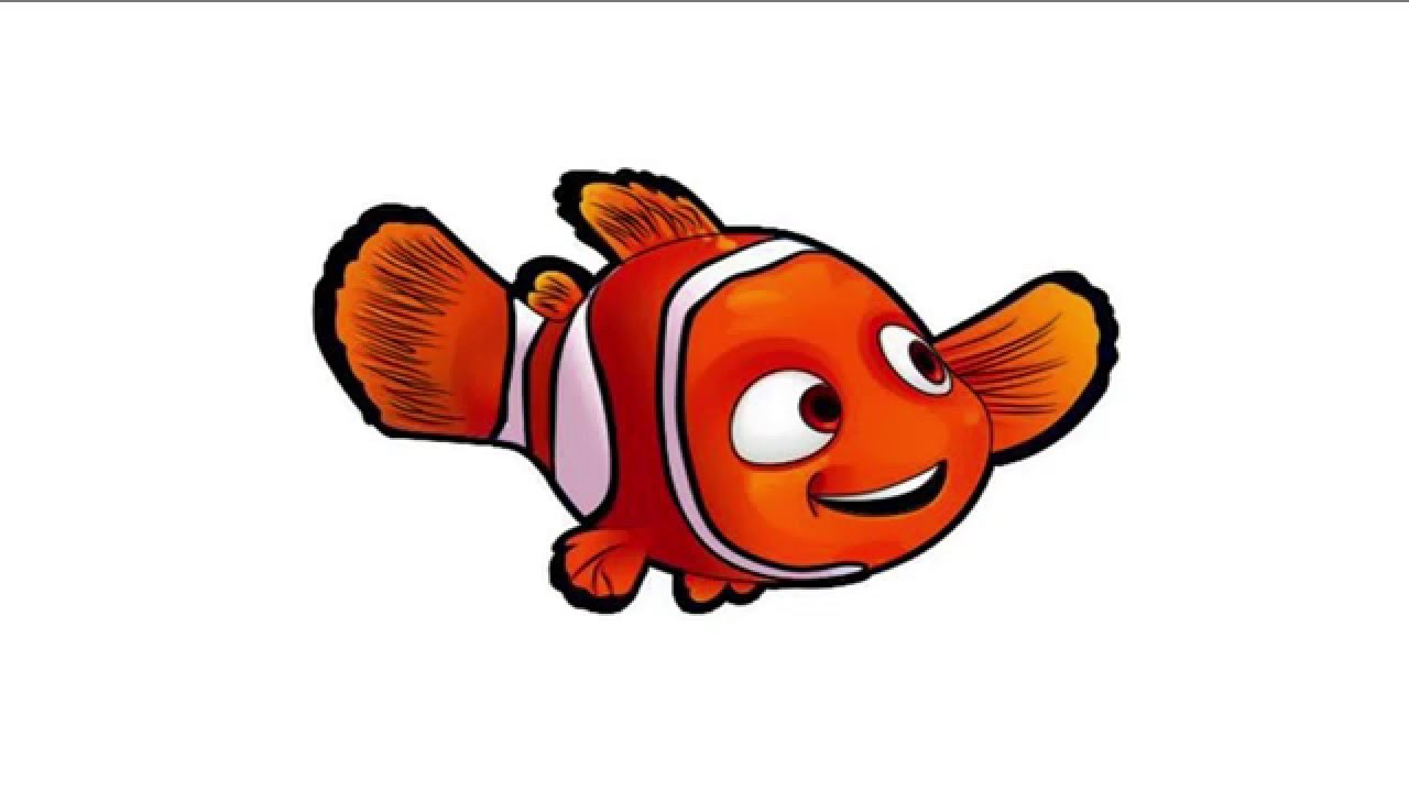 1280x720 Learn To Draw Nemo With Style Of Coloring To Finding Nemo In Fast