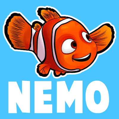 400x400 Today We Will Show You How To Draw Nemo From Disney's Finding Nemo