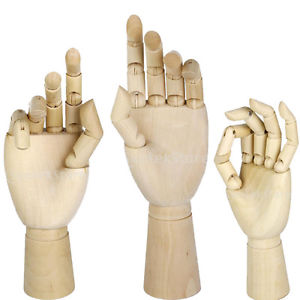 300x300 Artist Wooden Hand Model Manikin Movable Fingers Sketching Drawing