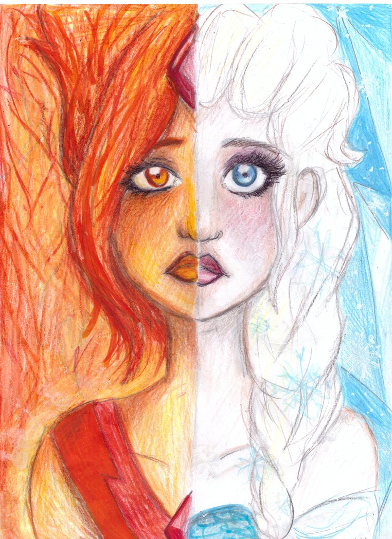 762x1049 Ice And Fire Elsa And Flame Princess Drawing By Nenebubbleelover