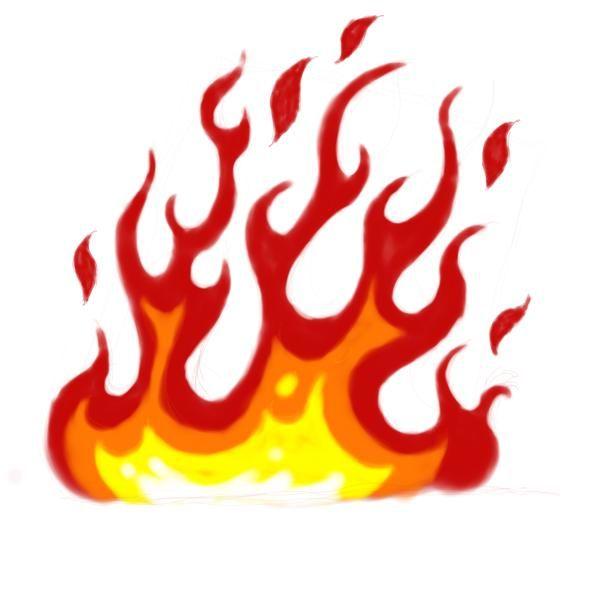 600x600 Cartoon Fire Flames Clipart Panda