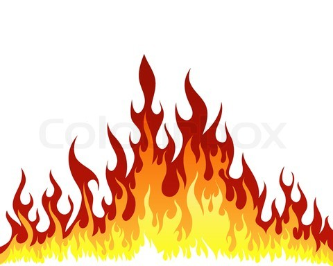 480x384 Drawings fire flames Stock Vector