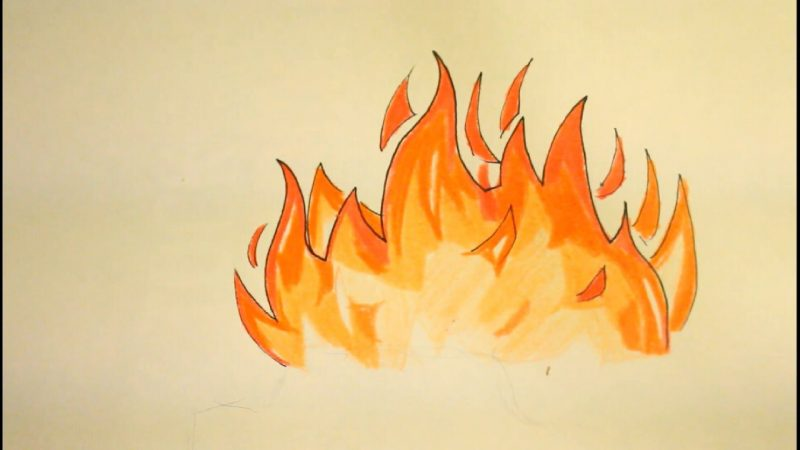 800x450 How To Draw Fire Perfectly Peddle Art Art Collector Art