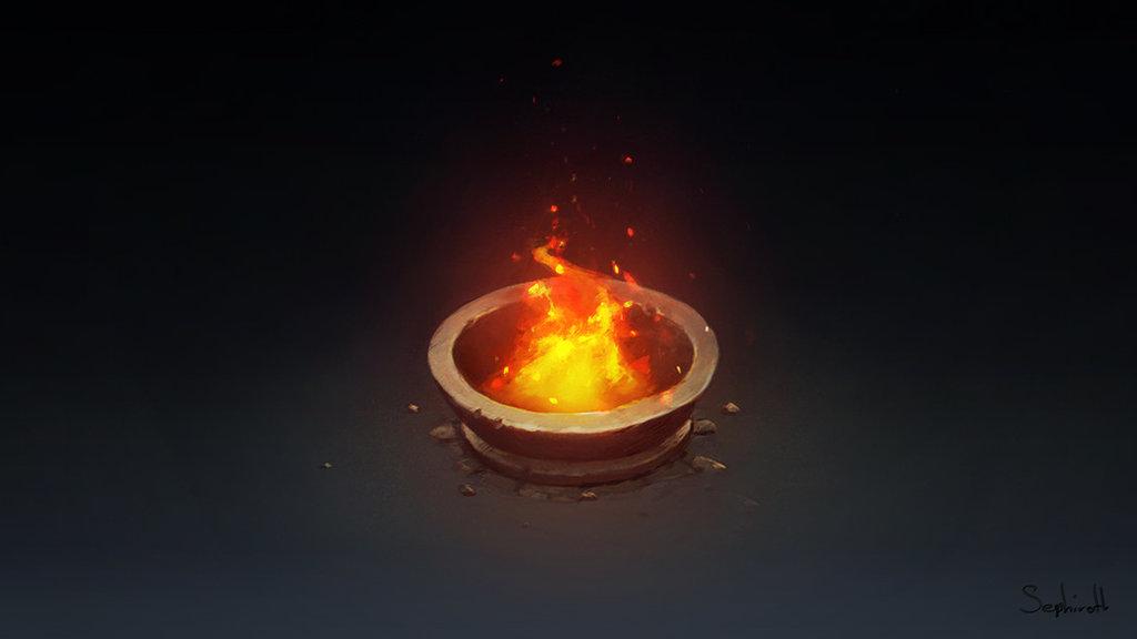 1024x576 Isometric Fire Pillar By Sephiroth Art