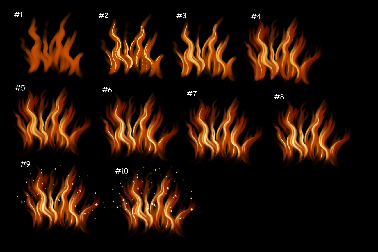 1300x867 Quick Scribbly Fire Tutorial For Sai + Manga Studi By Kohu
