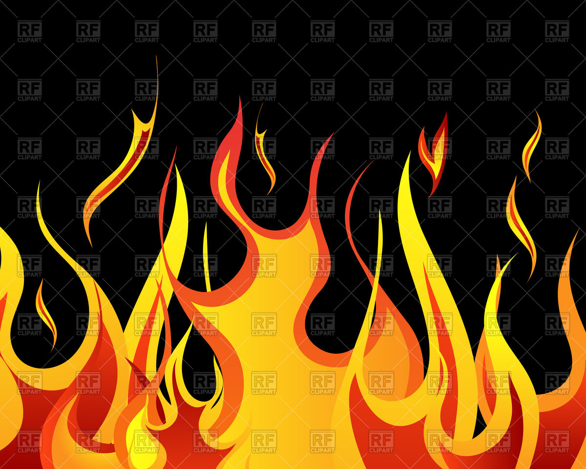 1200x960 Black Background With Flames Royalty Free Vector Clip Art Image