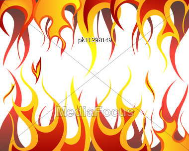 380x304 Stock Photo Inferno Fire Vector Background