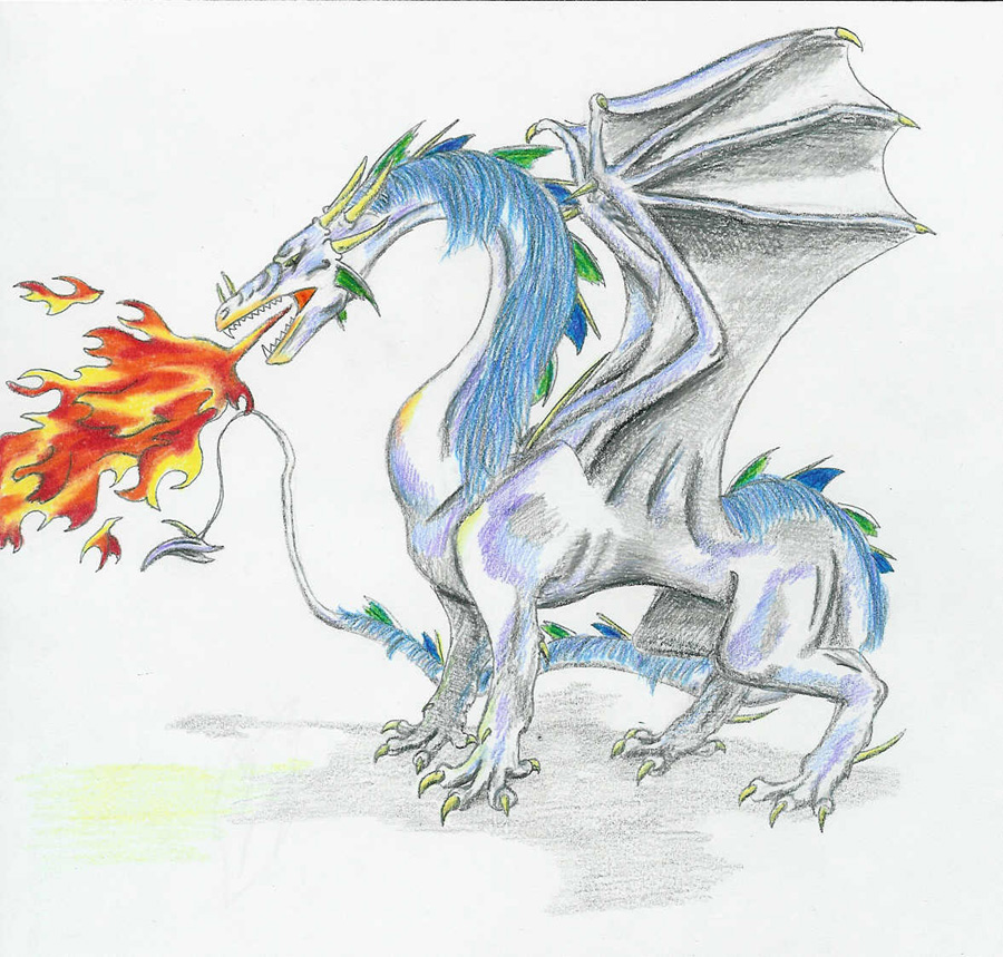 900x859 Fire Breathing Dragon By Drmario64