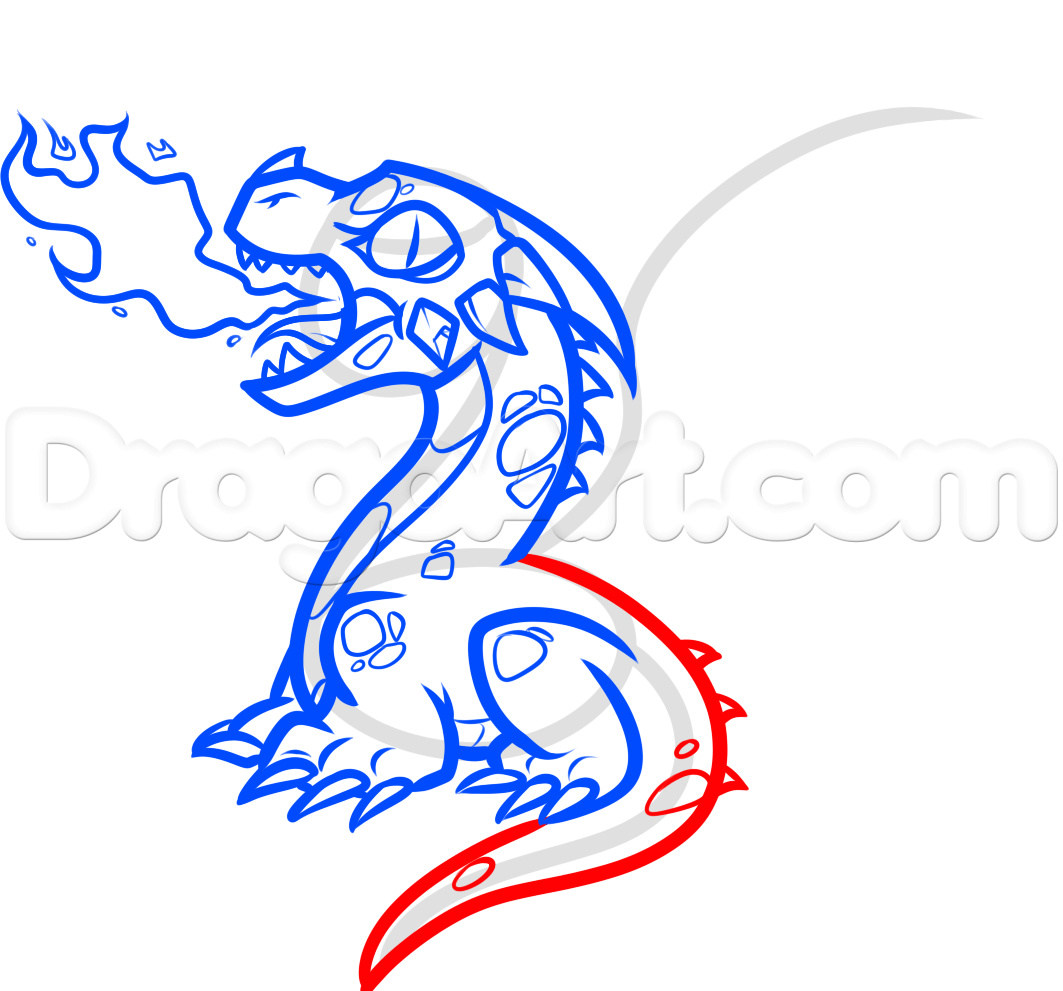 1063x991 How To Draw A Baby Fire Breathing Dragon Step 8 Baby Dragon How