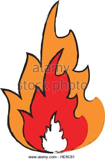 353x540 Drawing Fire Flame Burn Hot Stock Photos Amp Drawing Fire Flame Burn