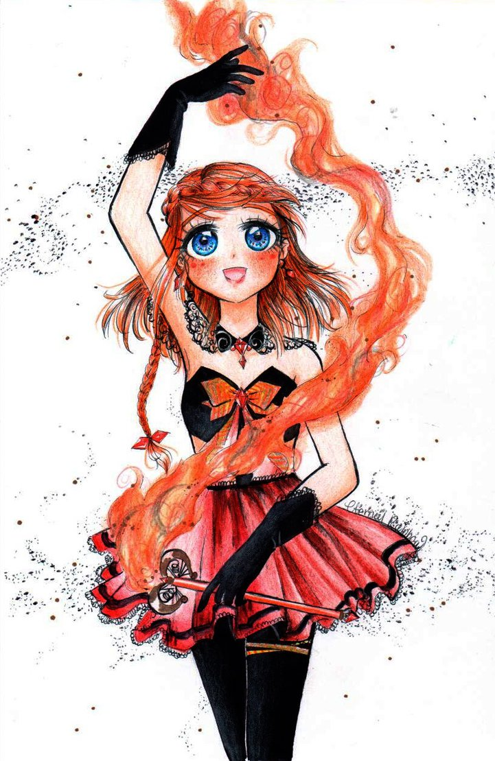 Fire Girl Drawing at GetDrawings.com | Free for personal use Fire ... for Girl Holding Fire Drawing  45ifm
