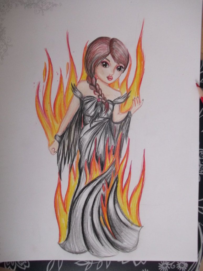 Fire Girl Drawing at GetDrawings.com | Free for personal use Fire ... for Girl Holding Fire Drawing  177nar