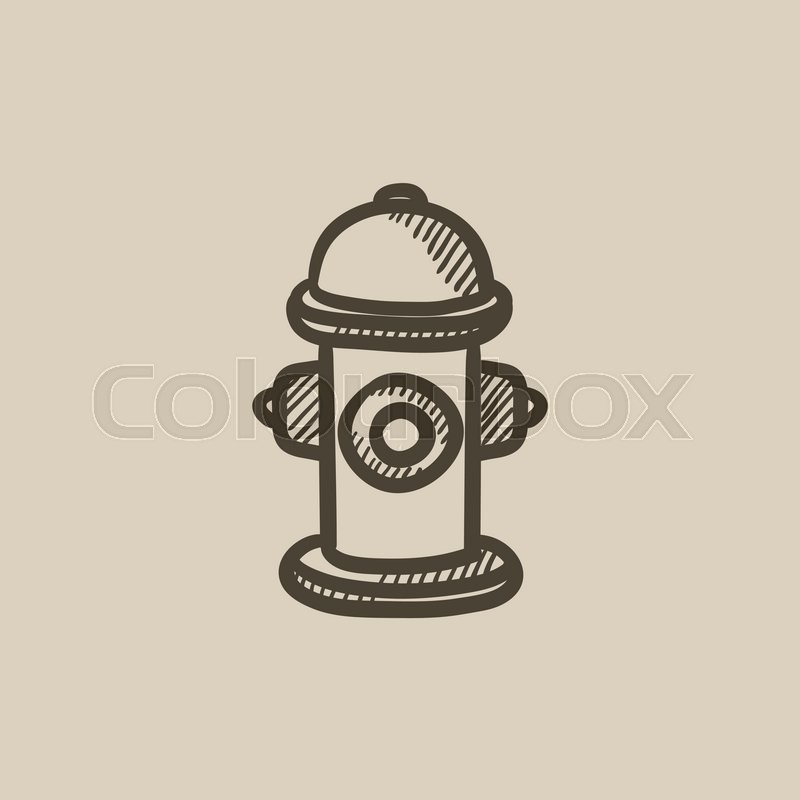 800x800 Fire Hydrant Vector Sketch Icon Isolated On Background. Hand Drawn