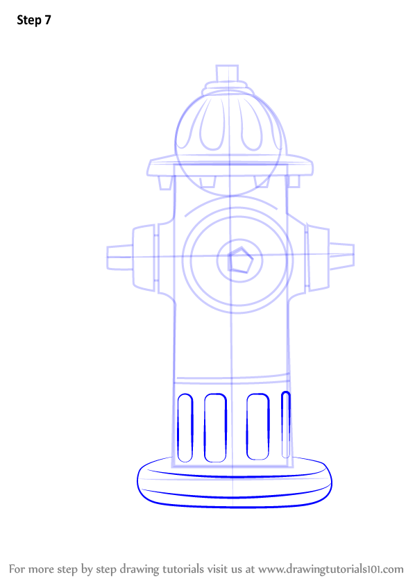 598x844 Learn How To Draw Fire Hydrant (Everyday Objects) Step By Step