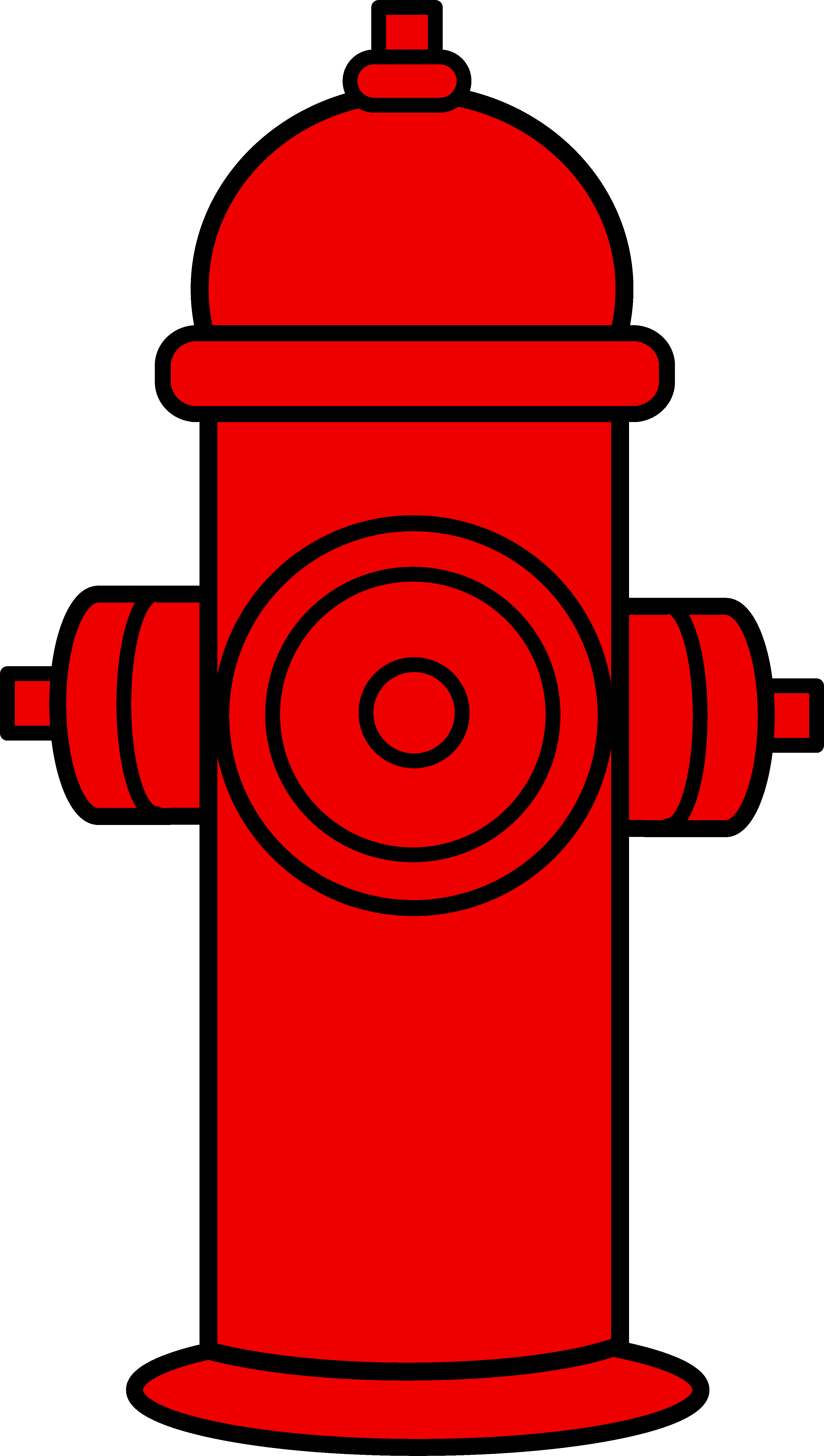 3449x6089 Red Fire Hydrant Clipart