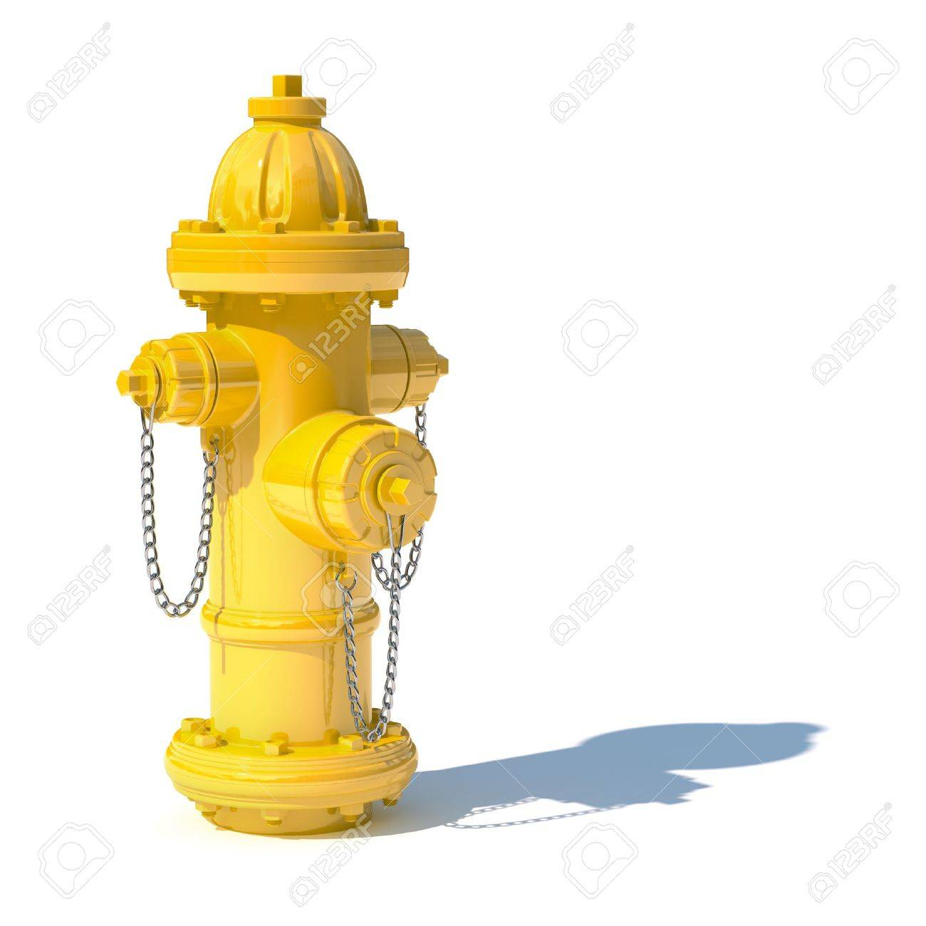 1300x1300 3d Illustration Of Yellow Fire Hydrant Isolated On White