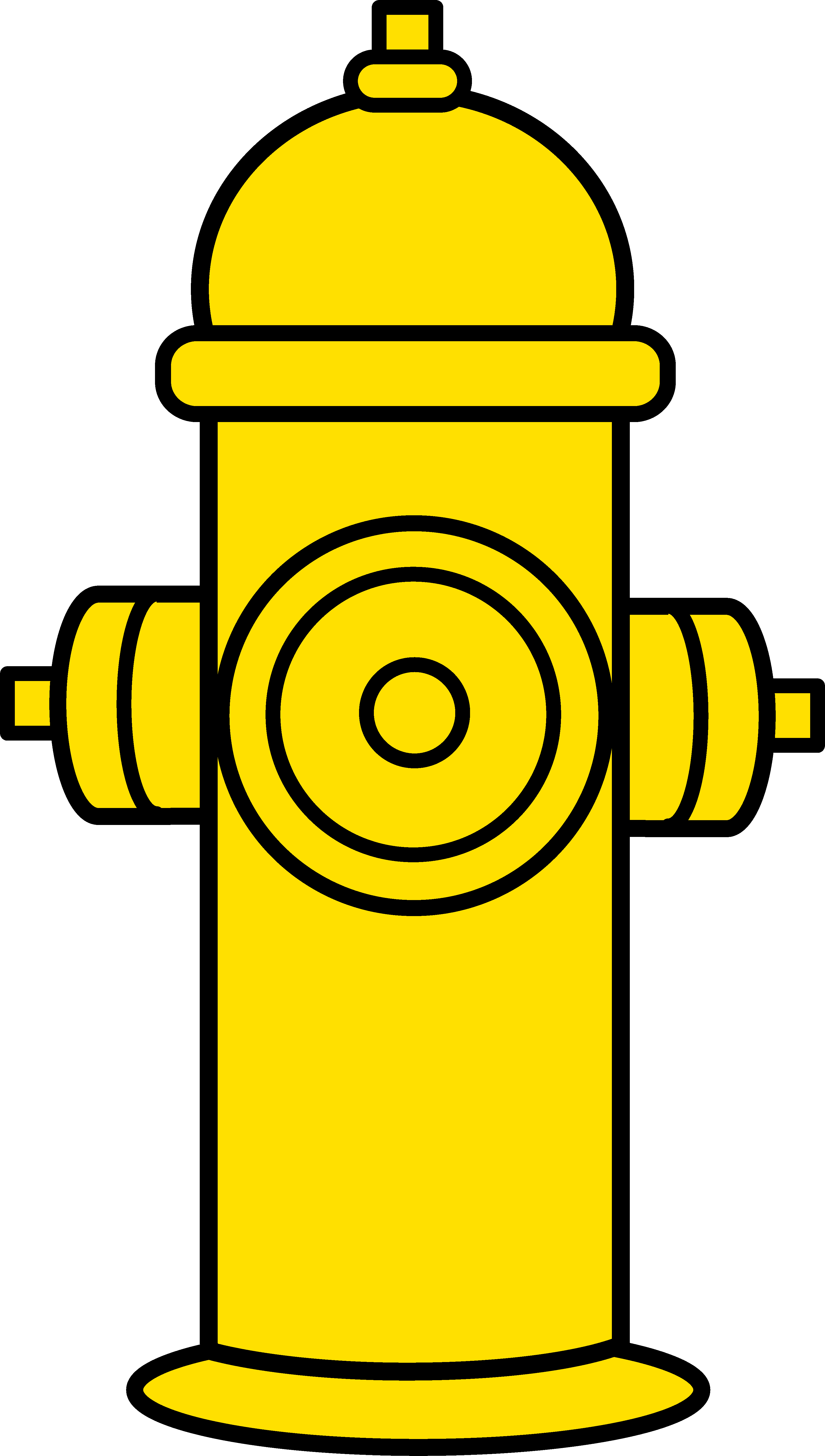 3449x6089 Yellow Fire Hydrant Clipart