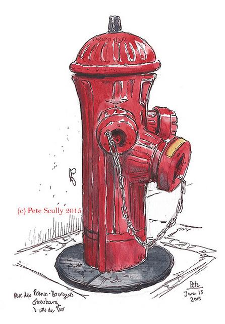 446x640 Sketching Fire Hydrants In Strasbourg Is Cool Sketchbooks