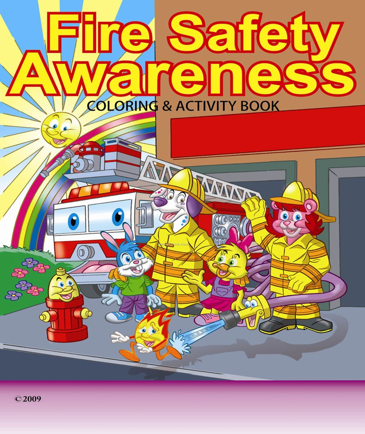 1200x1425 Fire Safety Awareness Children's Coloring And Activity Book,china