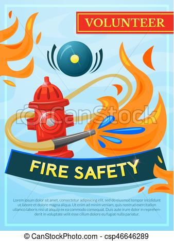 338x470 Fire Safety Vector Poster, Vector Illustration Fire Vector