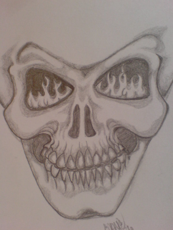 600x800 Fire Skull By Skyecotic