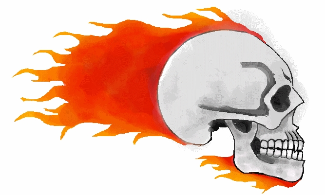 667x401 Fire Skull By Gallia101
