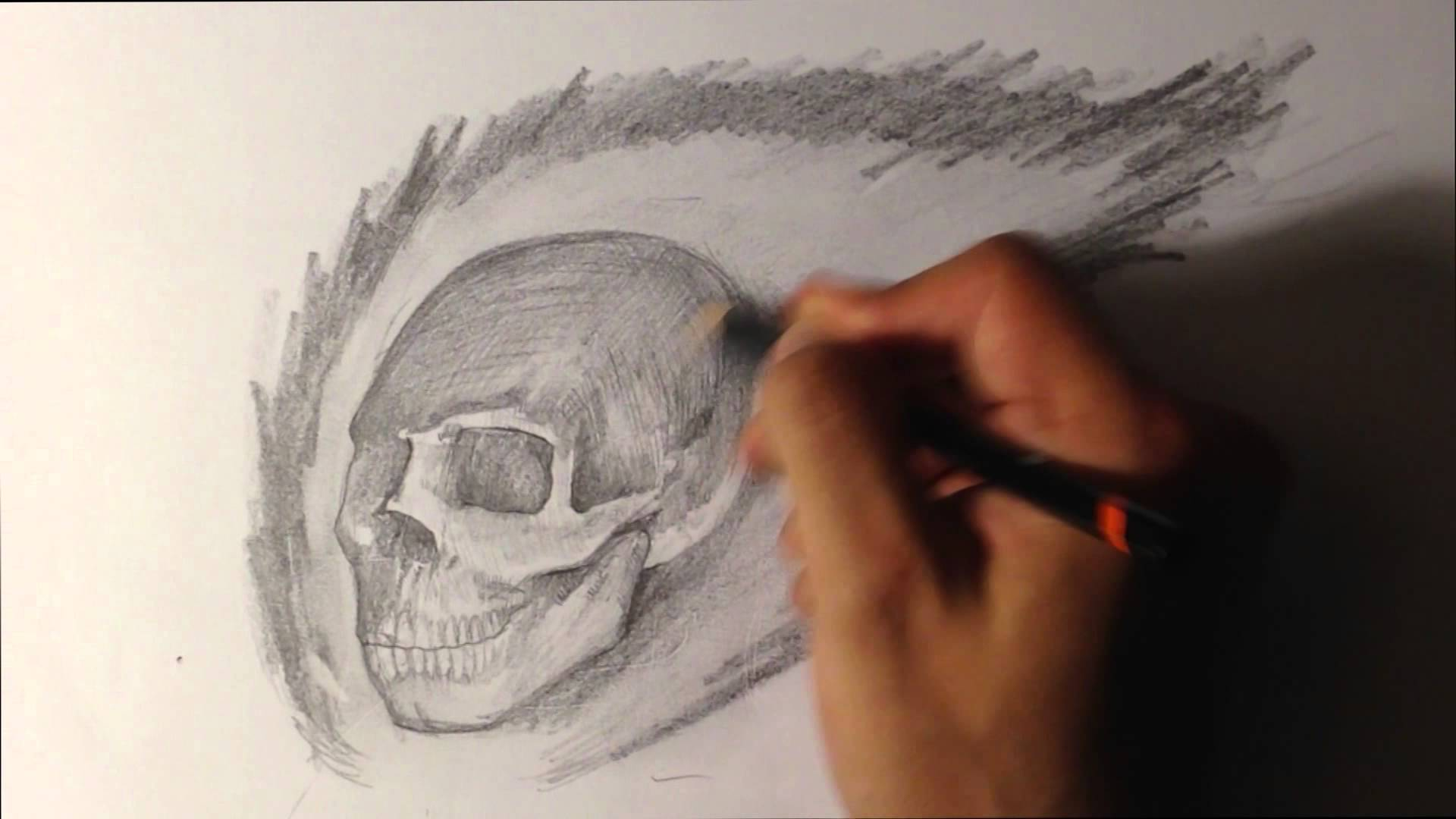 1920x1080 How To Draw A Skull On Fire