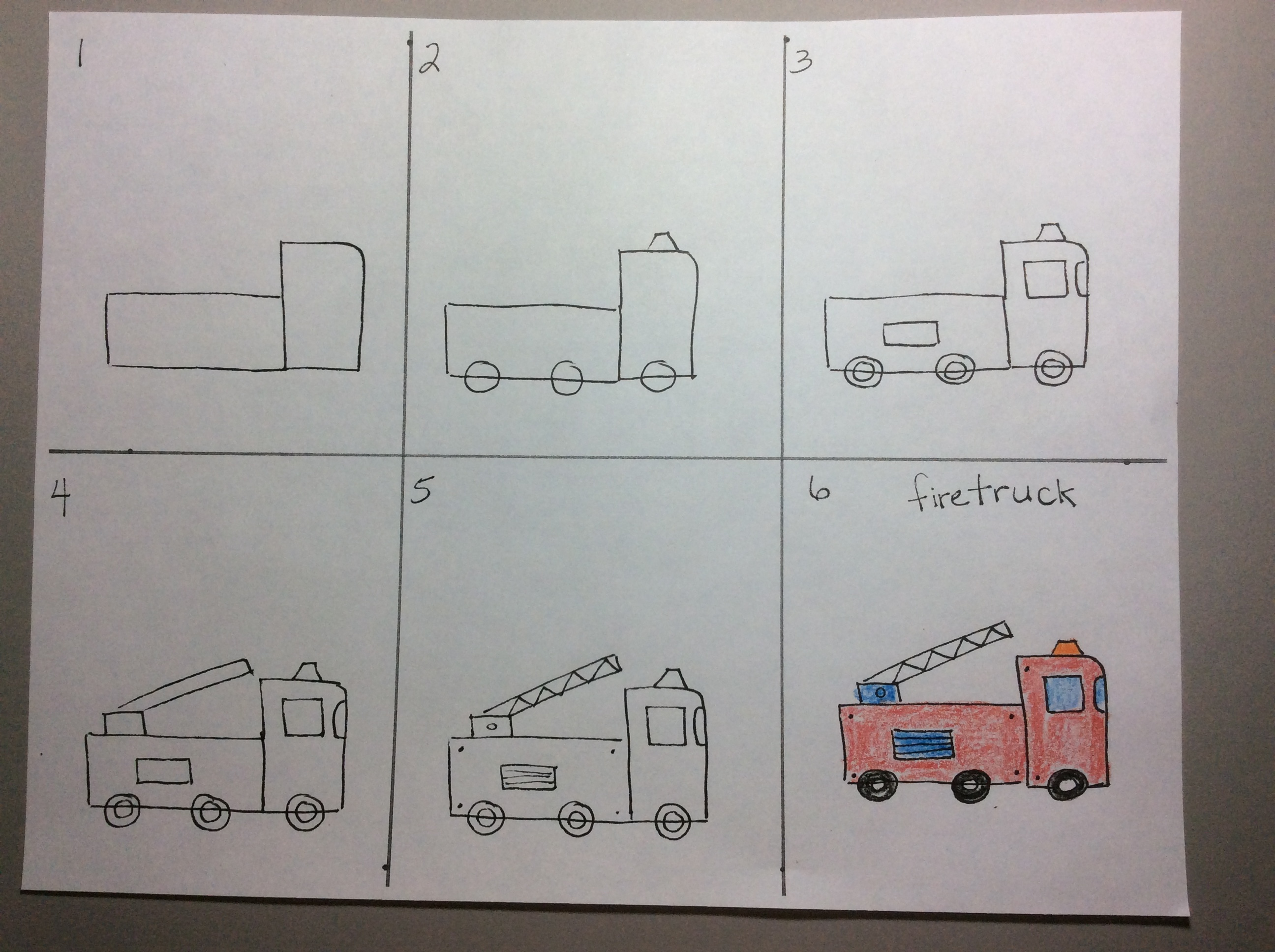 Fire Truck Drawing Easy At Free For Personal Use Engine Diagram 2592x1936