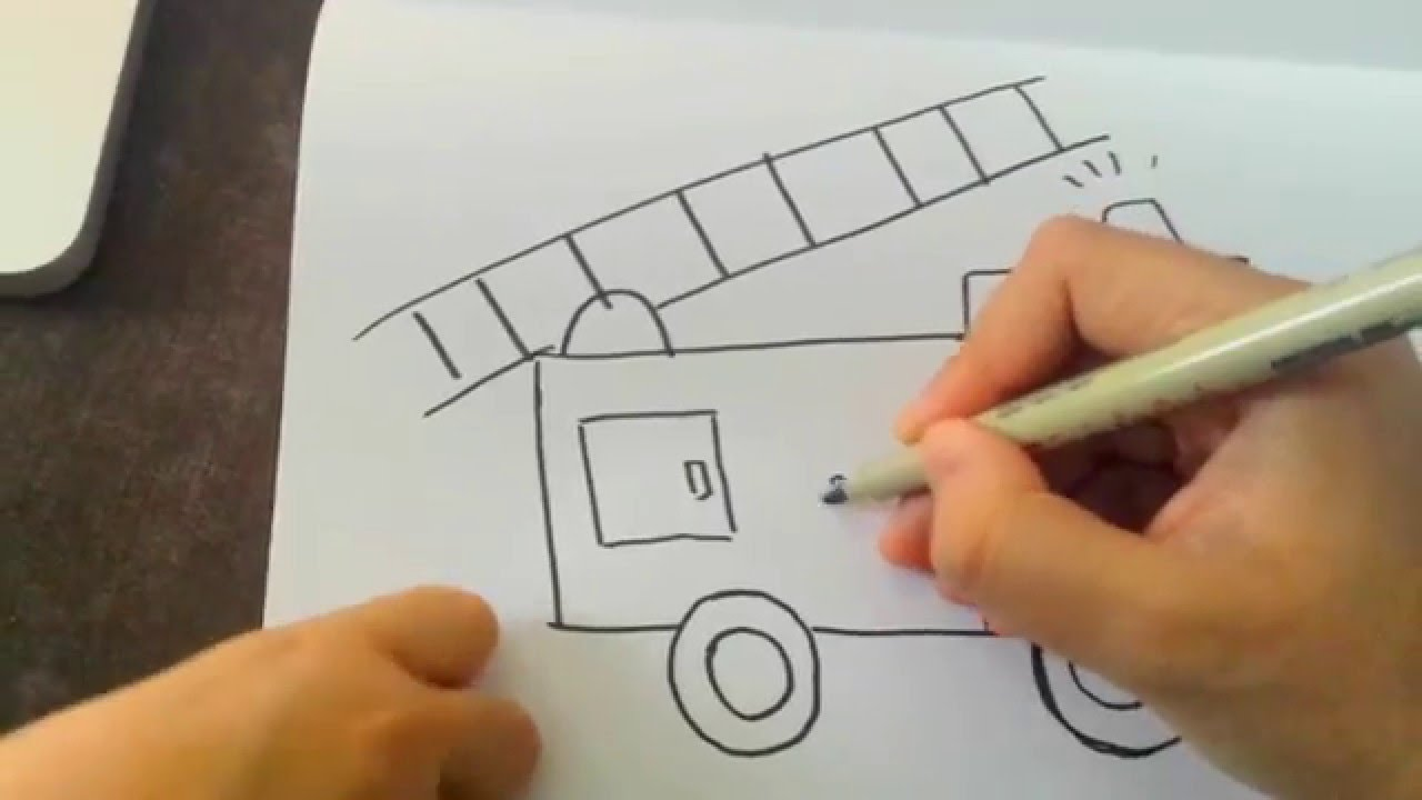 1280x720 How To Draw A Firetruck! For Kids And Toddlers! So Easy And Fun
