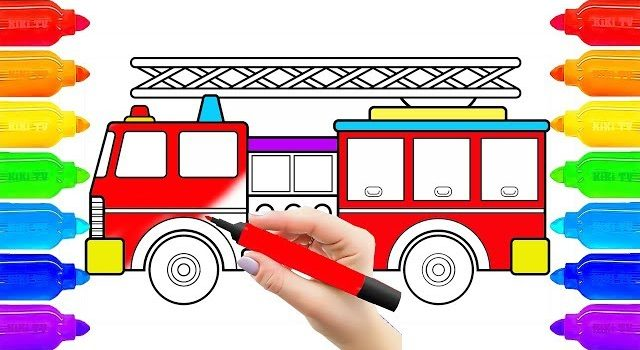 640x350 Download Save Thumbnail How To Draw Fire Truck, Drawing For Kids