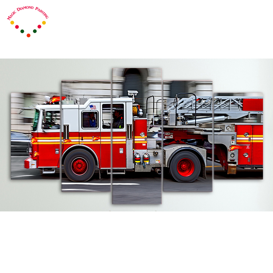 900x900 5d Diy 5pcs Diamond Drawing Roundsquare Diamond Painting Fire