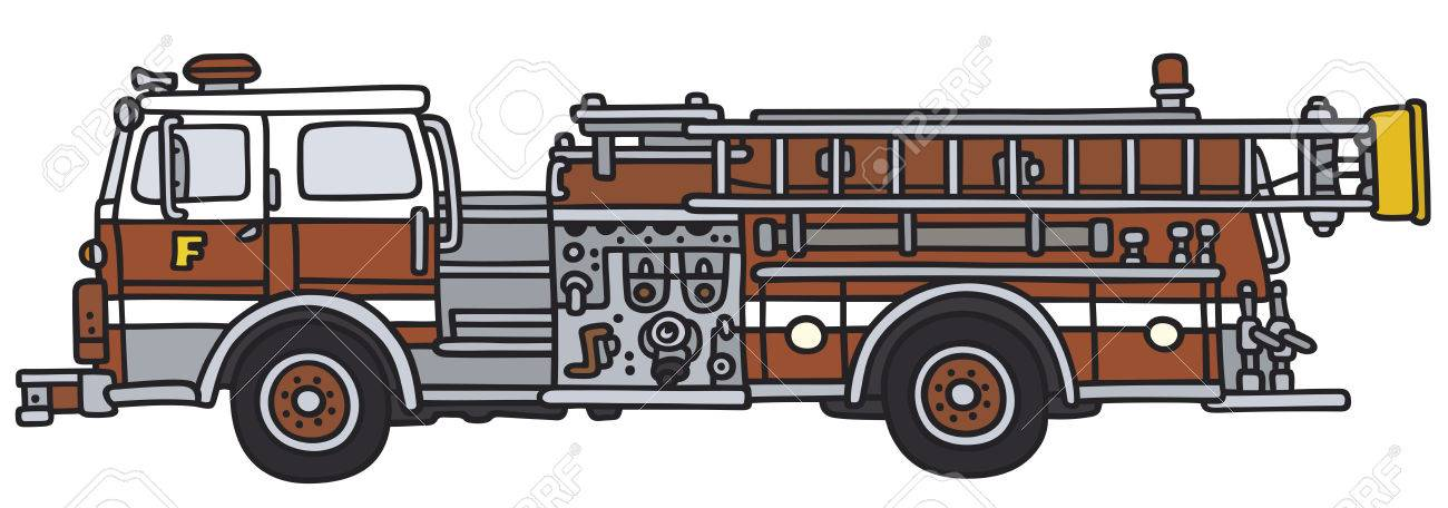 1300x456 Hand Drawing Of A Fire Truck