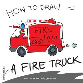 352x352 Mind The Kids How To Draw A Fire Truck Firetrucks