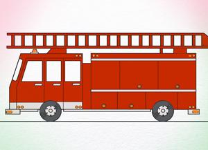 300x217 How To Draw Fire Truck Artforkidshub Fire Trucks