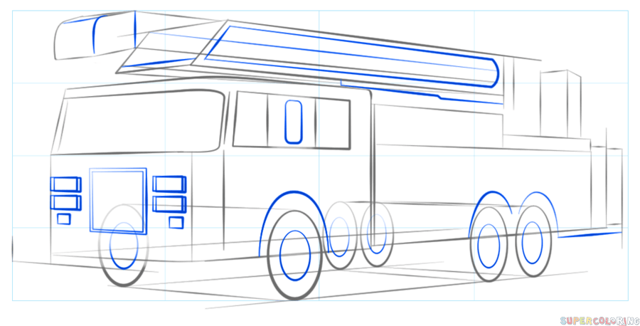900x458 How To Draw A Fire Truck Step By Step Drawing Tutorials