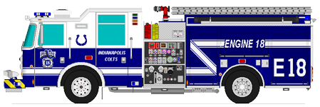 449x150 Indiana Fire Trucks Coloring Book