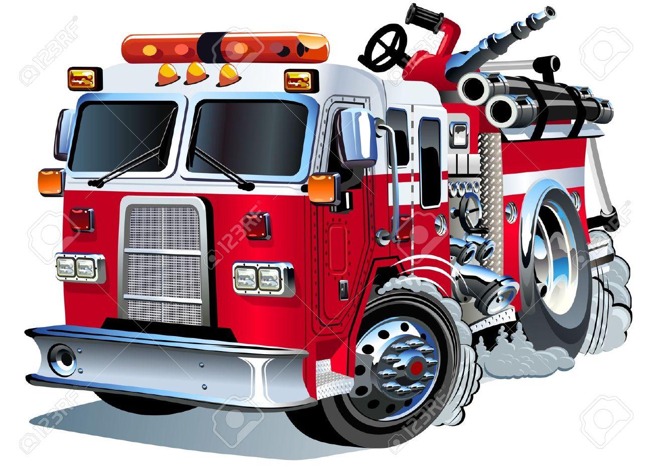 1300x937 Vector Cartoon Fire Truck Royalty Free Cliparts, Vectors,