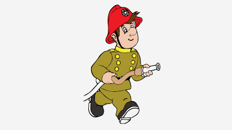 454x255 Firefighter Coloring Pages