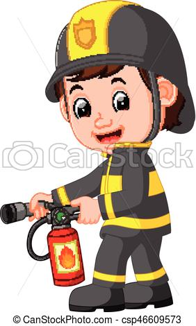 282x470 Illustration Of Firefighter Cartoon Vectors Illustration