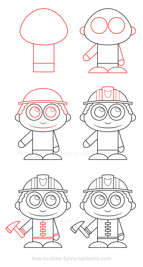 500x932 To Draw A Firefighter