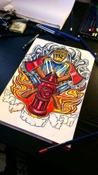 200x355 28 Best Firefighter Tattoo Designs To Show Your Love Firefighter