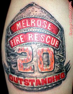 250x320 Leather Helmet Firefighter Tattoo
