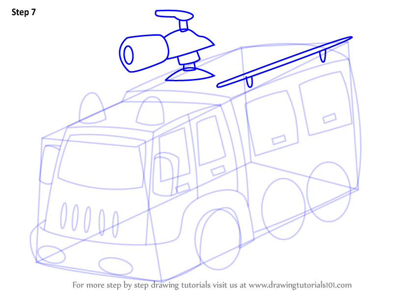 846x600 Learn How To Draw A Fire Fighter Truck (Trucks) Step By Step
